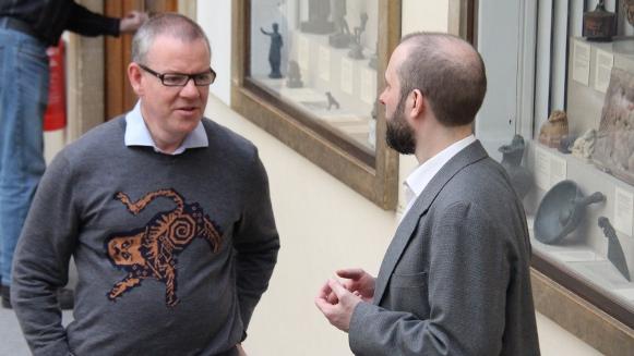 Two very intelligent men talking